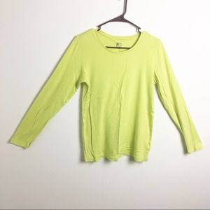 JcPenny Long Sleeve Tee Highlighter Yellow Large
